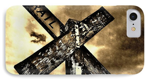 The Railroad Crossing Phone Case by Glenn McCarthy Art and Photography