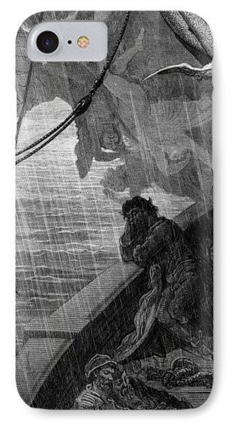 The Rain Begins To Fall IPhone Case by Gustave Dore