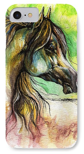 The Rainbow Colored Arabian Horse IPhone Case by Angel  Tarantella