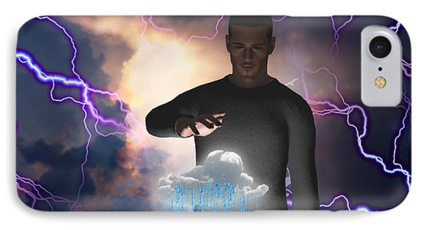 IPhone Case featuring the digital art The Rainmaker by Bruce Rolff