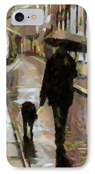The Rainy Walk IPhone Case by Dragica  Micki Fortuna