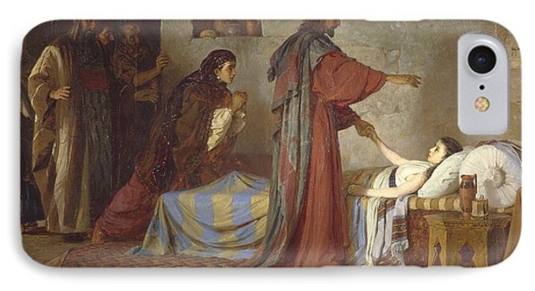 The Raising Of Jairus' Daughter IPhone Case by Vasilij Dmitrievich Polenov