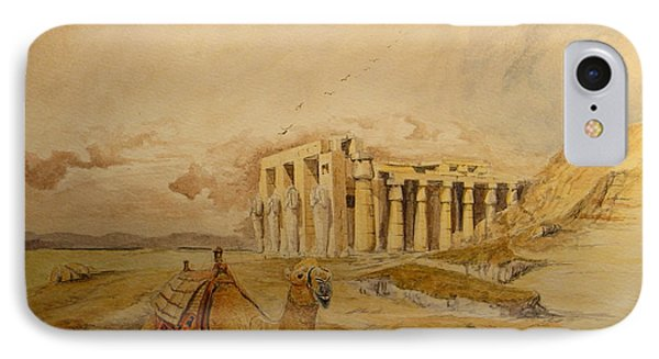 The Ramesseum Theban Necropolis Egypt IPhone Case