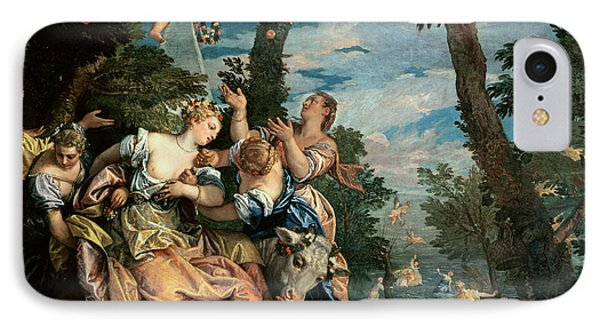 The Rape Of Europa Phone Case by Veronese