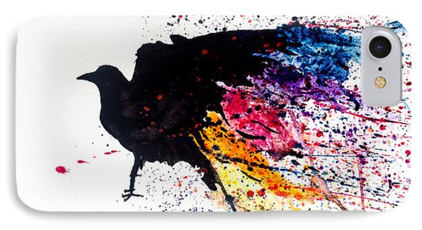 IPhone Case featuring the painting The Raven by Joshua Minso