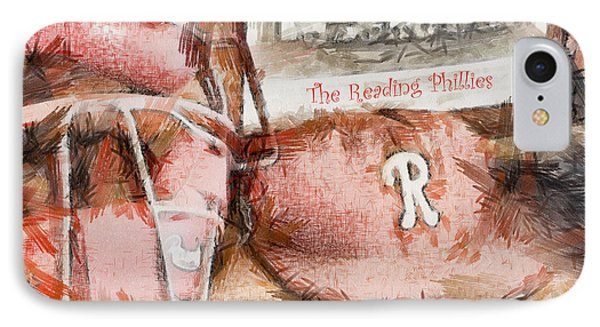 The Reading Phillies Phone Case by Trish Tritz