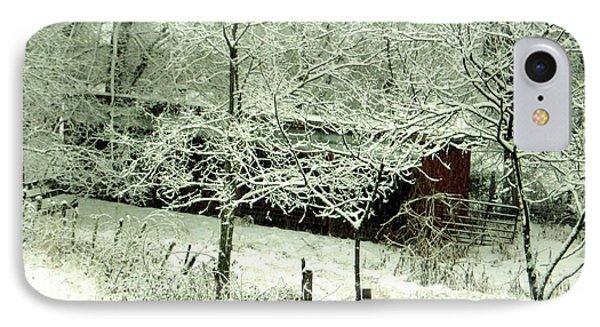 The Red Barn Phone Case by Mimi Saint DAgneaux