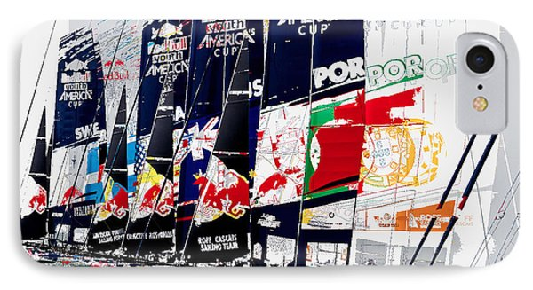 The Red Bull Youth Americas Cup The Start Phone Case by John Mangino