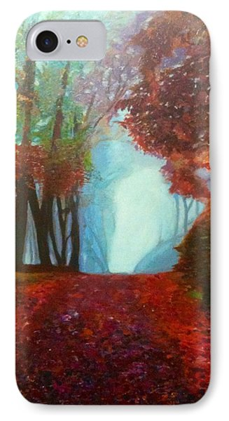IPhone Case featuring the painting The Red Cathedral - A Journey Of Peace And Serenity by Belinda Low