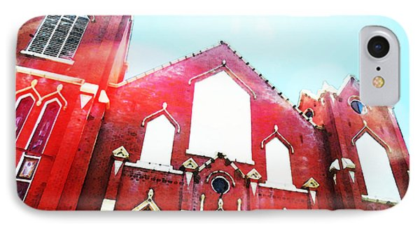 The Red Church By Sharon Cummings IPhone Case