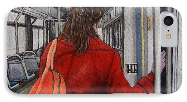 The Red Coat IPhone Case by Reb Frost