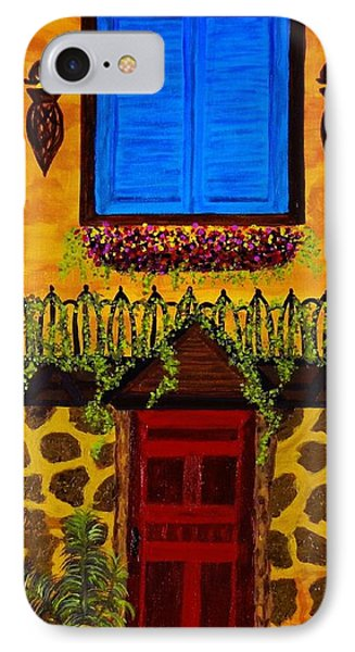 IPhone Case featuring the painting The Red Door by Celeste Manning
