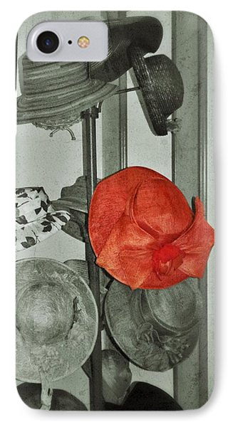 The Red Hat IPhone Case by Jean Goodwin Brooks