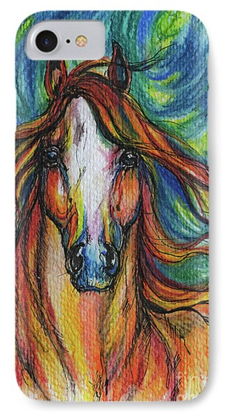 The Red Horse Phone Case by Angel  Tarantella