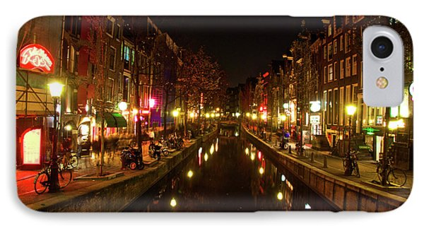 The Red Lights Of Amsterdam IPhone Case by Jonah  Anderson