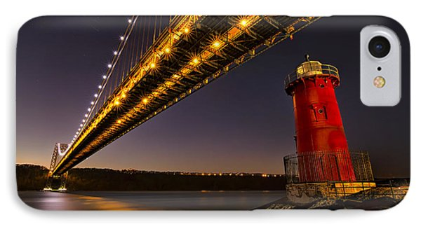 The Red Little Lighthouse IPhone Case by Eduard Moldoveanu