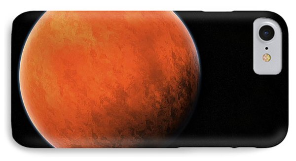 The Red Planet IPhone Case by Daniel Sicolo