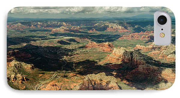 The Red Rocks Of Sedona IPhone Case by Alan Marlowe