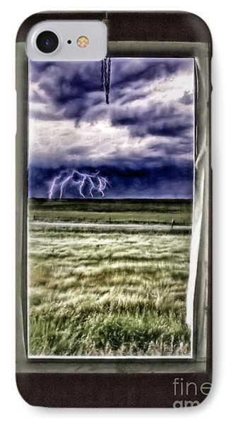 IPhone Case featuring the photograph The Red Storm Door by Brad Allen Fine Art
