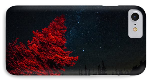 The Red Tree On A Starry Night Phone Case by Brian Xavier