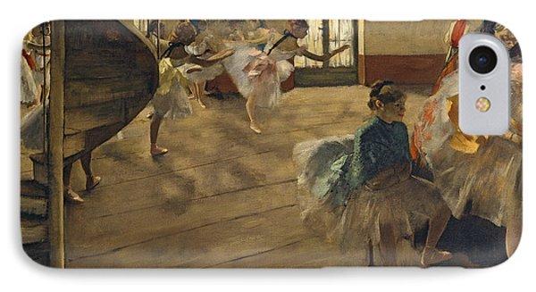 The Rehearsal, C.1877 IPhone Case by Edgar Degas
