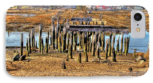 The Remains Of A Wellfleet Bridge IPhone Case by Constantine Gregory