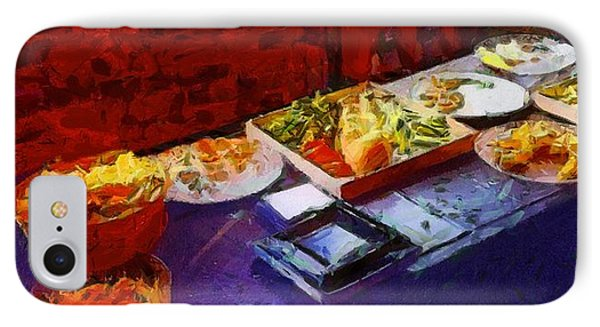 The Remains Of The Feast Phone Case by RC deWinter