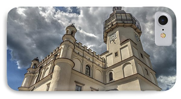The Renaissance Town Hall In Szydlowiec In Poland Seen From A Different Perspective IPhone Case by Julis Simo