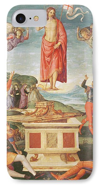 The Resurrection Of Christ, C.1502 Oil On Panel IPhone Case by Raphael