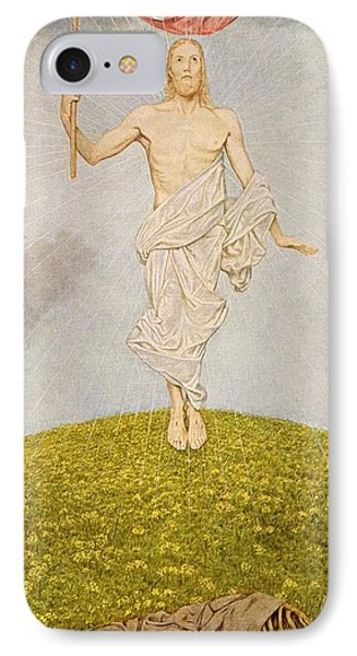 The Resurrection Of Christ IPhone Case by Hans Thoma