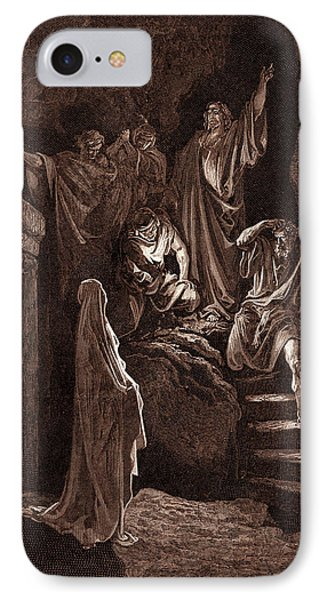 The Resurrection Of Lazarus, By Gustave Dore IPhone Case by Litz Collection