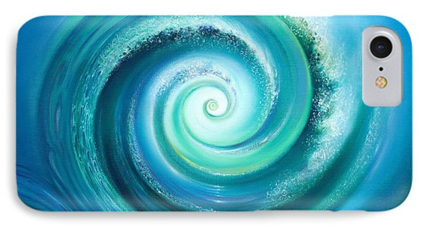 IPhone Case featuring the painting The Return Wave by Anna Ewa Miarczynska
