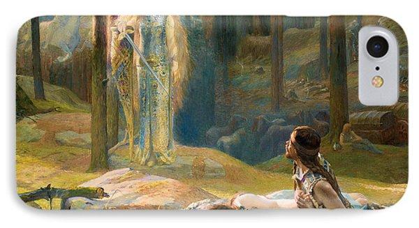 The Revelation. Brunhilde Seeing Siegmund And Sieglinde IPhone Case by Gaston Bussiere