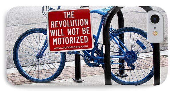 The Revolution Will Not Be Motorized IPhone Case by Rona Black