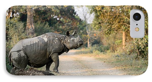 The Rhino At Kaziranga Phone Case by Fotosas Photography