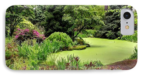 The Rhododendron Species Foundation Fern Pond  IPhone Case by Chris Anderson