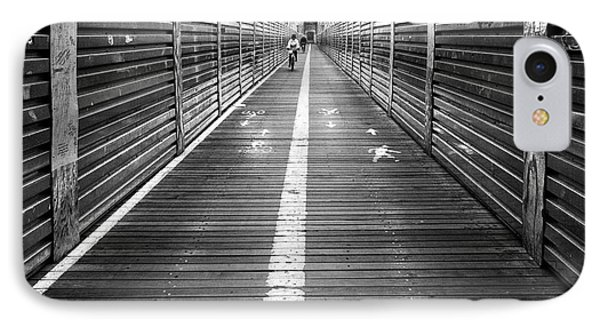 The Riders Brooklyn Bridge IPhone Case by John Farnan