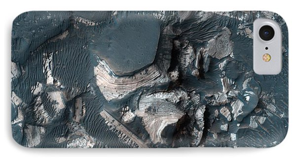 The Rim Of Holden Crater In Mars IPhone Case by Celestial Images
