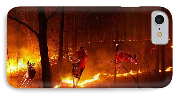 The Ring Of Fire IPhone Case by Bill Stephens