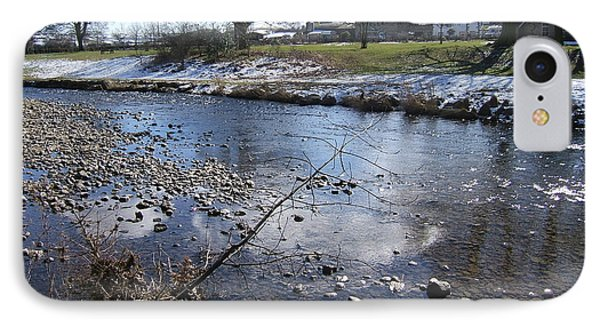 The River Aire At Gargrave North Yorkshire IPhone Case by Martin Blakeley