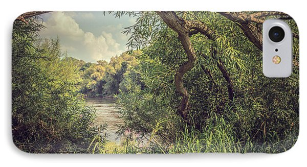 The River Severn At Buildwas Phone Case by Amanda Elwell