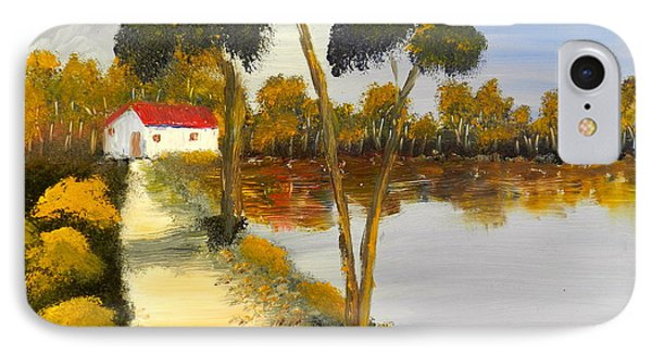 IPhone Case featuring the painting The Riverhouse by Pamela  Meredith