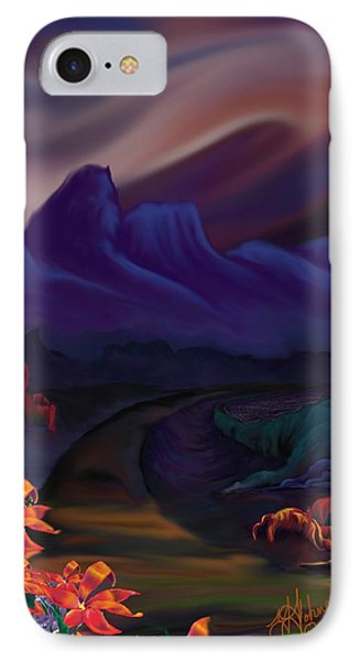 IPhone Case featuring the digital art The Road Less Traveled by Yolanda Raker