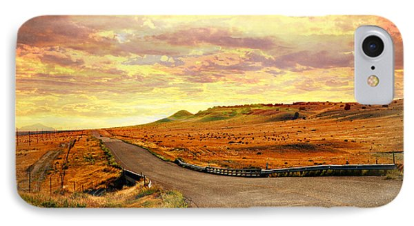 IPhone Case featuring the photograph The Road Less Trraveled Sunset by Marty Koch