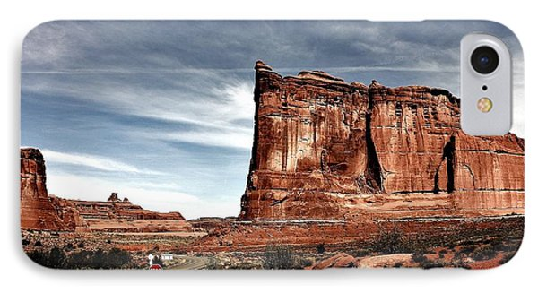 The Road Through Arches Phone Case by Benjamin Yeager