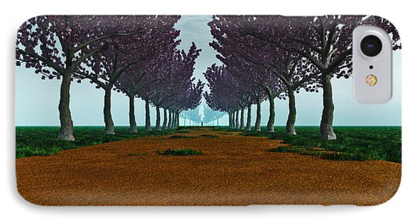 IPhone Case featuring the digital art The Road... by Tim Fillingim