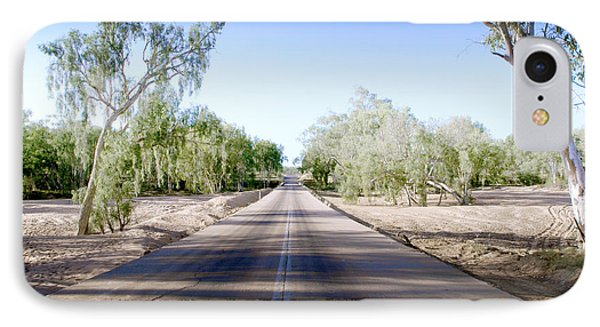 The Road To Back Of Beyond IPhone Case by Holly Kempe