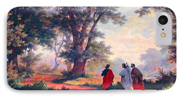 The Road To Emmaus IPhone Case by Tina M Wenger