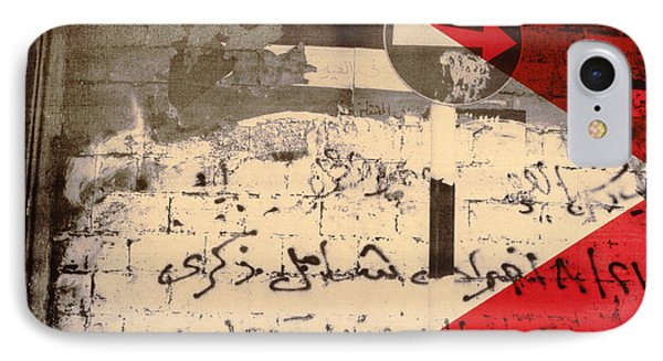 The Road To Jerusalem, 1992 Screen Print On Canvas IPhone Case by Laila Shawa
