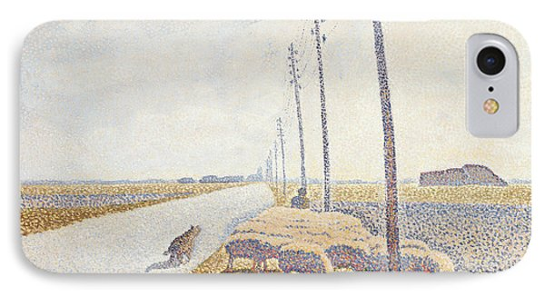 The Road To Nieuport IPhone Case by Willy Finch